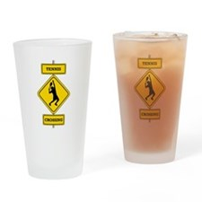 Tennis Crossing Drinking Glass