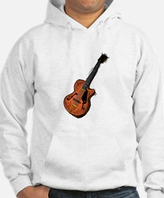 guitar semi hollow graphic brown Hoodie