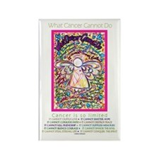 Spring Heart Cancer Angel Rectangle Magnet