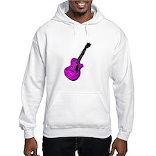 guitar semi hollow graphic purple Hoodie