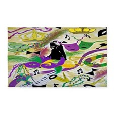Mardi Gras Party 3'X5' Area Rug