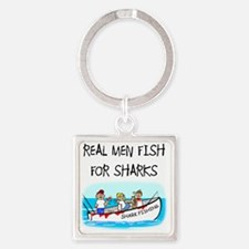 Real men Square Keychain