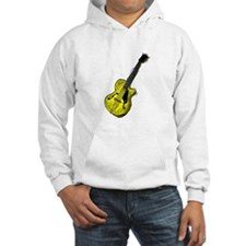 guitar semi hollow graphic yellow Hoodie