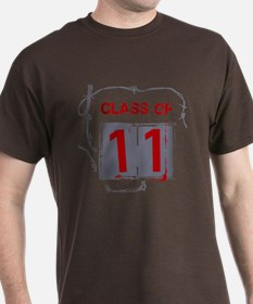 """Class of 11"" Barbed Wire T-Shirt"
