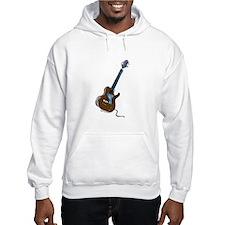 guitar single cutaway music design brown Hoodie