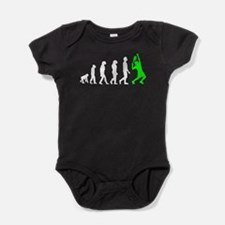Tennis Evolution (Green) Baby Bodysuit
