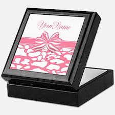 Cotton Candy Pink Ribbon Keepsake Box