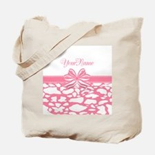 Cotton Candy Pink Ribbon Tote Bag