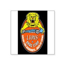 Lions Drag Strip Sticker