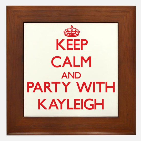 Keep Calm and Party with Kayleigh Framed Tile