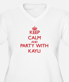 Keep Calm and Party with Kayli Plus Size T-Shirt