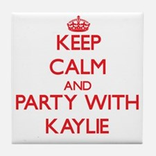 Keep Calm and Party with Kaylie Tile Coaster
