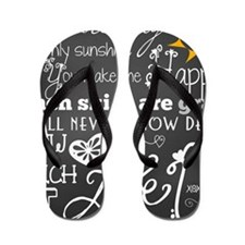 You Are My Sunshine Flip Flops