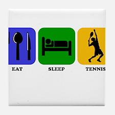 Eat Sleep Tennis Tile Coaster