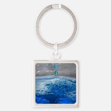 Liquid Art Square Keychain