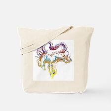 horseredwhite Tote Bag