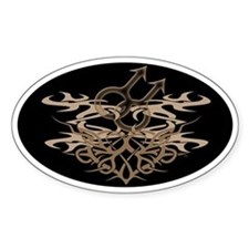 Gay Tribal Heart Oval Decal