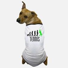 Tennis Evolution (Green) Dog T-Shirt