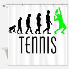 Tennis Evolution (Green) Shower Curtain
