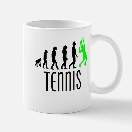 Tennis Evolution (Green) Mugs