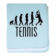Tennis Evolution baby blanket