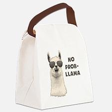 No Problem Llama Canvas Lunch Bag