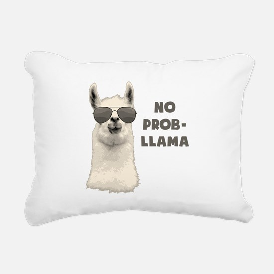 No Problem Llama Rectangular Canvas Pillow
