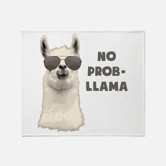 No Problem Llama Throw Blanket