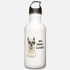 No Problem Llama Water Bottle