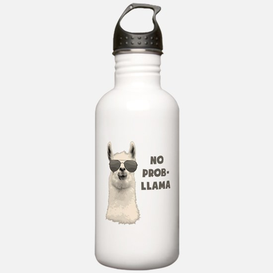 No Problem Llama Water Bottle