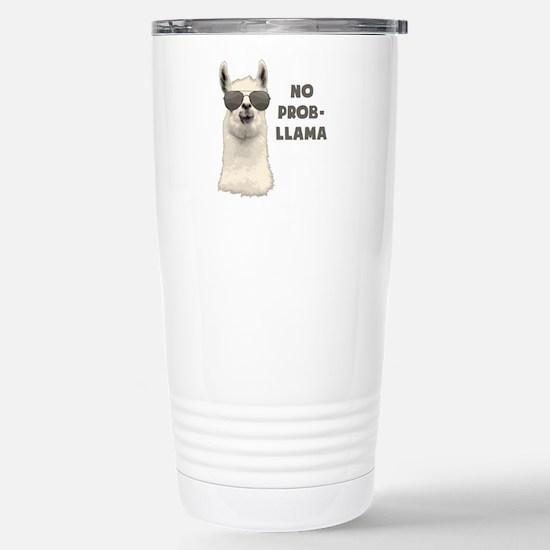 No Problem Llama Travel Mug