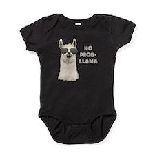 No Problem Llama Baby Bodysuit
