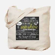 My Daughter Love and Inspirational Tote Bag