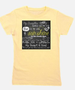 My Daughter Love and Inspirational Girl's Tee