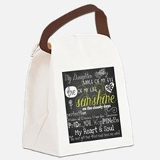 My Daughter Love and Inspirationa Canvas Lunch Bag