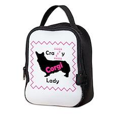 Crazy Z Corgi Lady Neoprene Lunch Bag