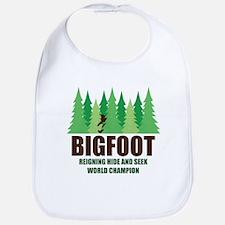 Bigfoot Sasquatch Hide and Seek World Champion Bib