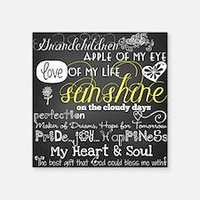 """Grandchildren Love and Insp Square Sticker 3"""" x 3"""""""