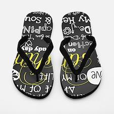 Grandchildren Love and Inspirational Flip Flops