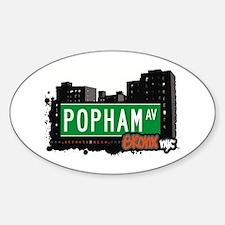 Popham Av, Bronx, NYC Oval Decal