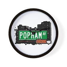 Popham Av, Bronx, NYC  Wall Clock