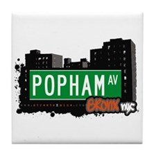 Popham Av, Bronx, NYC  Tile Coaster