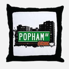 Popham Av, Bronx, NYC  Throw Pillow