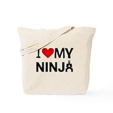 I Heart My Ninja Tote Bag