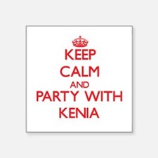 Keep Calm and Party with Kenia Sticker
