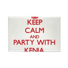 Keep Calm and Party with Kenia Magnets