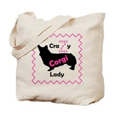 Crazy Z Corgi Lady Tote Bag
