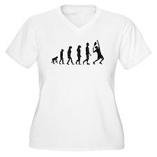 Tennis Evolution Plus Size T-Shirt
