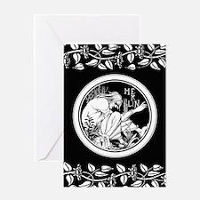 Merlin Art Nouveau fantasy Greeting Cards