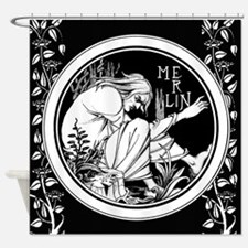 Merlin Art Nouveau fantasy Shower Curtain